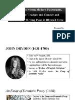 John Dryden LIterary Criticism