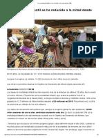 La mortalidad infantil se ha reducido a la mitad desde 1990 _ Salud _ EL MUNDO
