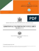 Add Maths Syllabus
