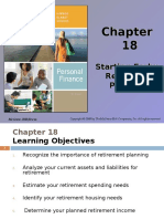 7-RETIREMENT AND PENSION PLANNING (Starting Early Retirement Planning )