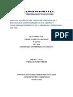 ACTIVIDAD DESARROLLO EMPRESARIAL COLOBIANO