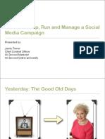 Run a Social Media Campaign