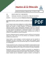 INFORMATIVO Nº 59 ORIENTACIONES TRABAJO PLATAFORMA