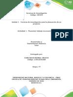 Juan Bernal - actividad 1 Presentar trabajo de reconocimiento.
