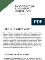 INTRODUCCION AL ORDENADOR Y PERIFERICOS