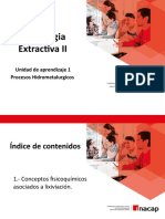 1. Procesos Hidrometalurgicos  - Fundamentos Fisicoquimicos
