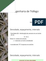 Engenharia de Tráfego densidade