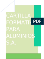 CARTILLA FORMATIVA PARA ALUMINIOS S