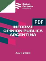 Encuesta Zuban Córdoba sobre los argentinos y la pandemia