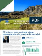 PANORAMA TURÍSTICO2019 - OMT