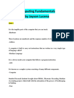 Computing Fundamentals all in source by jayson lucena