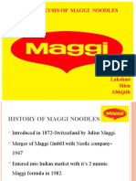 IMC  OF MAGGI NOODLES