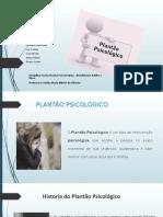 PPT PLANTÃO PSICOLÓGICO