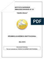 Régimen Académico Institucional 2019 - Versión preliminar.pdf
