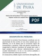 Especificaciones técnicas de segunda calzada carretera Piura-Catacaos
