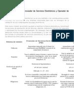 Diferencias entre un Proveedor de Servicios Electrónicos y Operador de Servicios Electrónicos