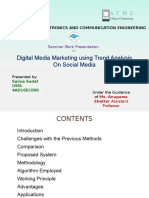 Digital media marketing using trend analysis on social media seminar presentation