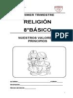 Módulo 8º Religión primer trimestre 2016