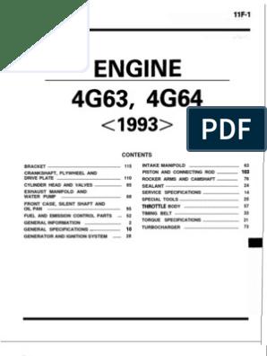 Mitsubishi 4G63 & 4G64 Engine | Internal Combustion Engine | Fuel InjectionScribd