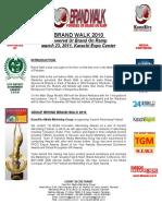 Brand Walk 2010 - Information Manual Final