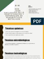 Métodos analíticos empleados en la identificación y separación de xenobióticos metálicos