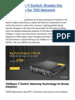 FS 10Gbase-T Switch