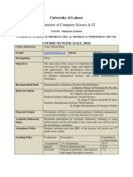Course Outline Database Systems