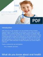 oral health program  child care and development