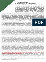 EL FEDERALISMO  CAPITULO 4 DEL LIBRO DE PEREZ  Y OTROS