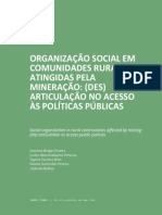 Organização social em comunidades rurais (região atingida pela mineração)