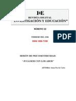 Nivel Educacion Infantil Titulo Sesion Depsicomotricidad Jugando Con Los Aros Autora Gema Paz de Castro