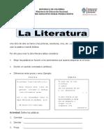 UNIDAD 7 GUIA 26 Ficha-Que-es-La-Literatura-para-Quinto-de-Primaria
