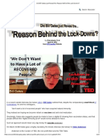 Did Bill Gates just Reveal the 'Reason Behind the Lock-Downs'_