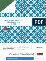 CLASE 2-OBJETO ESTUDIO PSICOLOGÍA SOCIAL