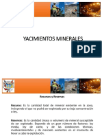 Clasificación y tipos de yacimientos 2020 A