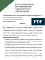 Continuidad Pedagogica - Sociologia 5to A Sociales - EESN°3 - Abril Num 01