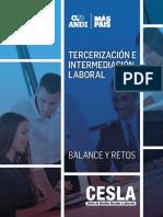 Tercerización e intermediación laboral balance y retos Colombia CESLA