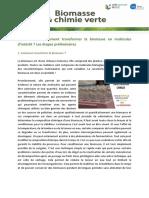biomasse chimie verte