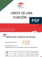 LÍMITE DE UNA FUNCIÓN - I