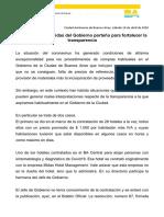 Comunicado del gobierno porteño