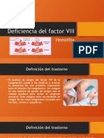 Deficiencia del factor VIII