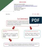 PERSONAL SOCIAL- LA CONVIVENCIA - QUINTO GRADO