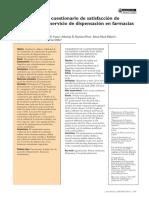Validación de un cuestionario de satisfacción de usuarios en farmacia comunitaria