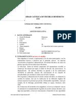 SILABUS DE GESTIÓN EDUCATIVA