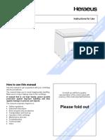 Heraeus Labofuge 300 - User manual