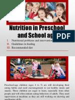 Nutrition in Preschool and School age