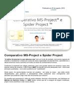 Comparativo entre o MS-Project e o Spider Project