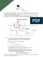Ficha Linguagem C - Dimensionamento de fonte com LM317