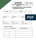 SIG-P-003 Identificación y evaluacion de requisitos Legales