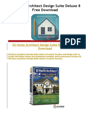 Purchase 3d Home Architect Design Suite Deluxe 8